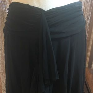 Tommy Bahama black skirt swim coverup